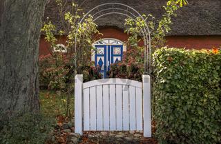 Falshoeft in Schleswig-Holstein - Eingang zum Reethaus