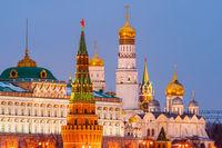 Illuminated Moscow Kremlin