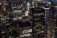 Skyscrapers in New York City at night