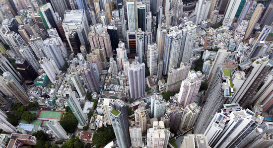 Top view of Hong kong, Kowlon