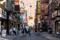 Chinatown district in New York City