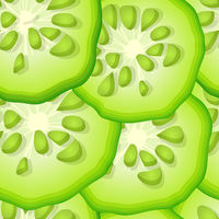 Seamless cucumber slices