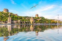 Roumeli Hissar Castle, a famous fortress of Istanbul, Turkey