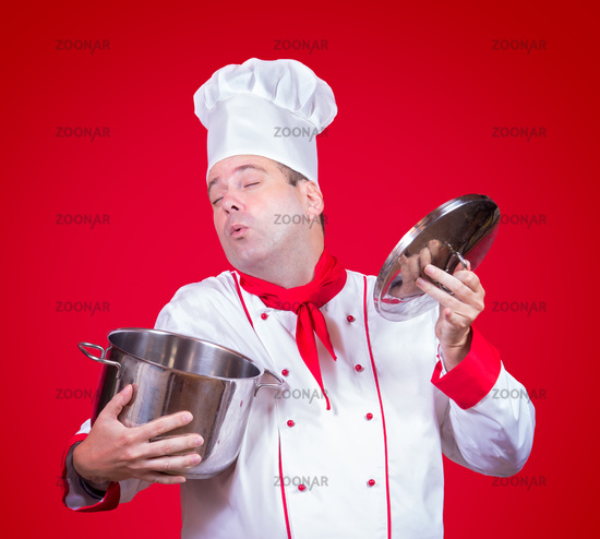 cook smell the open pot