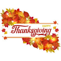 Hand drawn Happy Thanksgiving lettering banner. vector illustration.