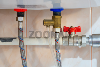 Tap and tube of an electric water boiler
