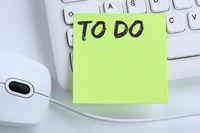 To Do To-Do-Liste Zettel Checkliste Liste Business Konzept Maus