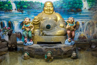 The sitting Buddha statue in Buddhist monastery.