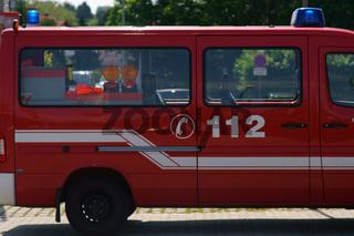 Feuerwehrwagen Seitenansicht