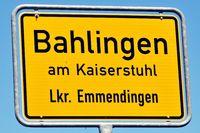 City-limit sign Bahlingen am Kaiserstuhl