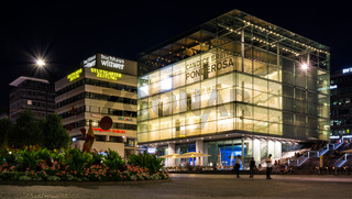 Stuttgart Kunstmuseum Famous Landmark Building Night Lights