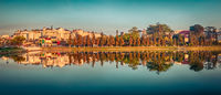 Xuan Huong Lake, Dalat, Vietnam. Panorama