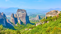 Panoramic view of the rocks in Meteora
