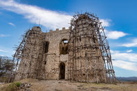ruins of Guzara royal palace, Ethiopia Africa