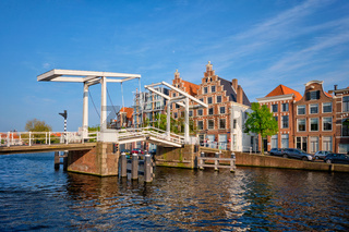 Gravestenenbrug bridge in Haarlem, Netherlands