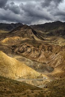 Fotu La or Fatu La mountain pass on the Srinagar-Leh highway in the Himalayas zaskar Range, Ladakh, India