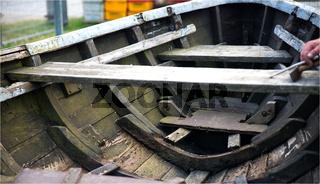 Ruderboot Reparatur