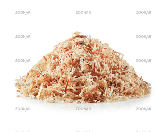 Pile wooden sawdust