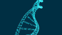 DNA molecule helix, vector illustration for medical and science creative, modern background