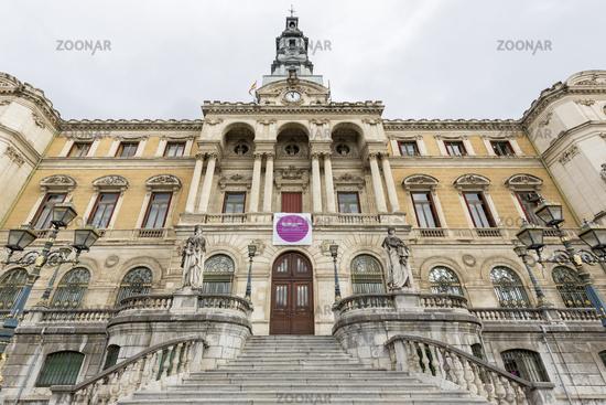 Das historische Rathaus in Bilbao, Baskenland