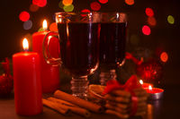 Mulled wine and holiday lights