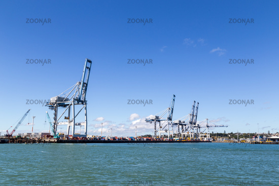 Container Terminal in Auckland, New Zealand