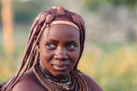 Portrait of himba woman, Namibia Africa
