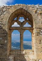 Window in Hilarion Castle - Kyrenia region - Northern Cyprus