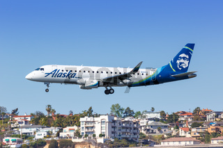 Alaska Airlines Skywest Embraer ERJ 175 airplane San Diego airport