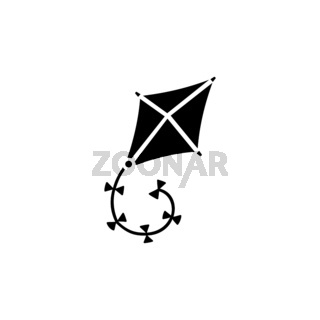 Kite. Isolated icon. Play and game vector illustration