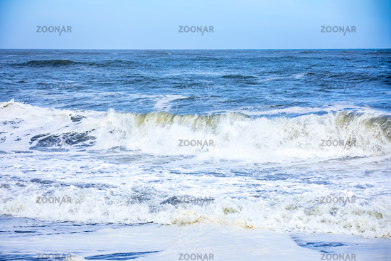 stormy ocean scenery background