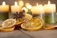 Christmas decoration with candles - fourth Sunday of Advent