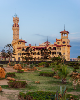 Royal palace at Montaza public park, Alexandria, Egypt