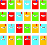 Seamless background with colored school books for school pattern print