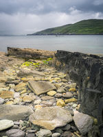 Coastline with rocks along ring of beara in ireland