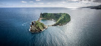 Small island of Vila Franca do Campo on the Azores near Sao Miguel