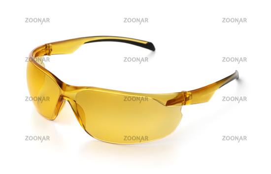 Yellow polarized bicycle sunglasses