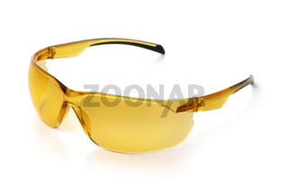 Yellow polarized bicycle sunglasses