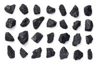 Black Coal Collection Isolated On White Background