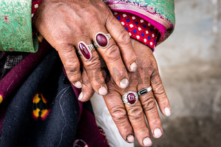 Hands of an Indian woman