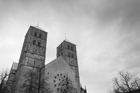Dark clouds over the St.-Paulus Cathedral