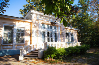 Summer, vacation. Old sanatorium them. Chkalov in Odessa, Ukraine.