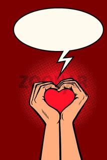 heart love hands gesture