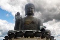 The enormous Tian Tan Buddha at Po Lin
