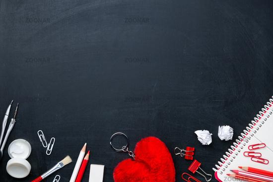 Office Supplies On Blackboard