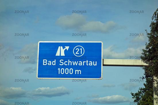 Federal Motorway Exit Bad Schwartau