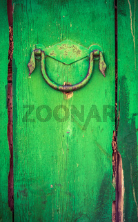 Rustic Wooden Door With Handle
