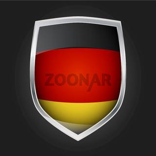 Deutsche Flagge auf Schild