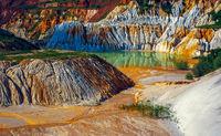Abandoned kaolin quarry.