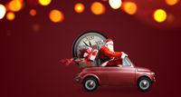 Santa Claus countdown on car